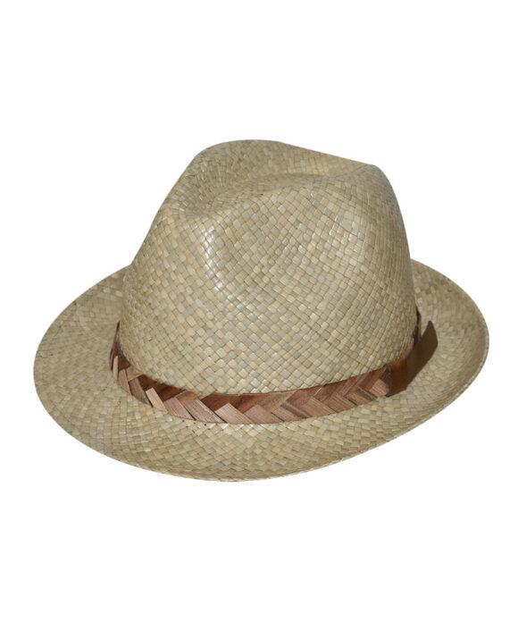 Καπέλο trilby με λουράκι πλεξούδα - STAMION