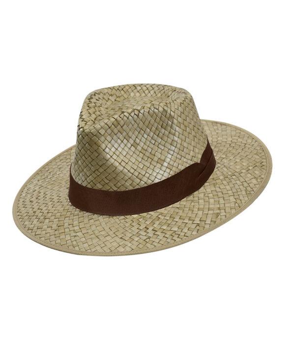 Καπέλο fedora με καφέ κορδέλα - STAMION