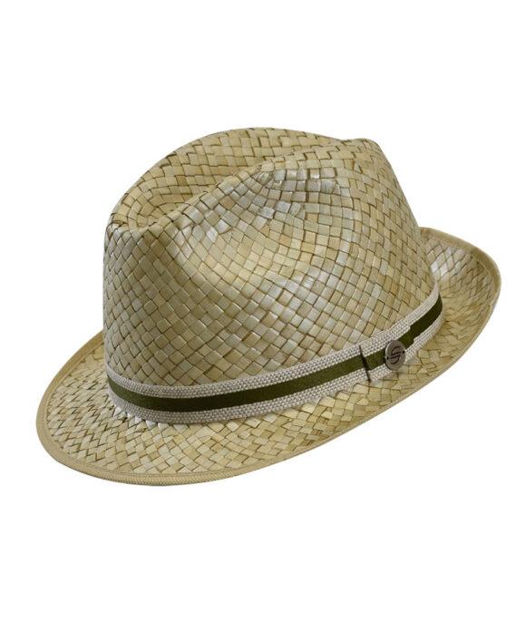Καπέλο trilby με ριγέ κορδέλα - STAMION
