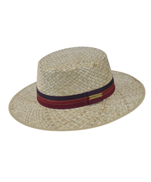 Καπέλο boater με κορδέλα jaguar - STAMION
