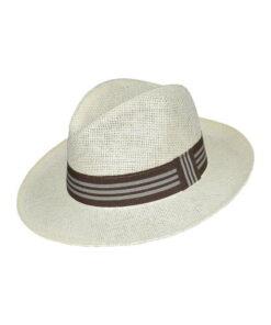 Καπέλο ανδρικό με ριγέ κορδέλα - STAMION