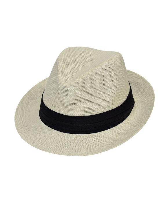 Καπέλο Bogart με μαύρη κορδέλα - STAMION