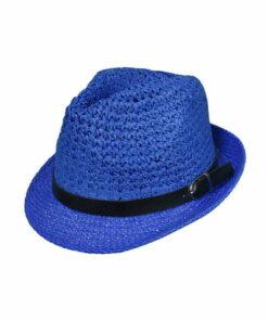 Καπέλο καβουράκι με δερμάτινο λουράκι - STAMION