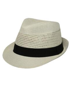 Καπέλο καβουράκι με μαύρη κορδέλα - STAMION