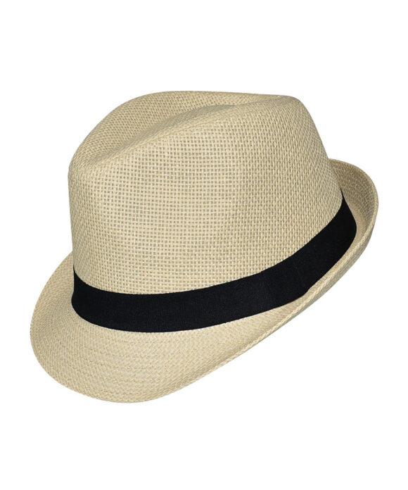Καπέλο trilby με μαύρη κορδέλα - STAMION