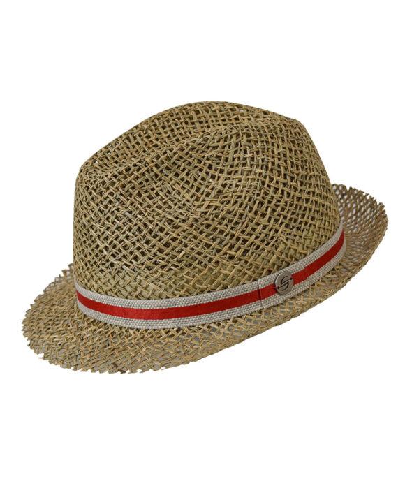 Καπέλο trilby ψάθινο - STAMION