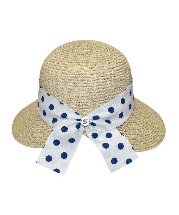 Καπέλο cloche με πουά κορδέλα - STAMION