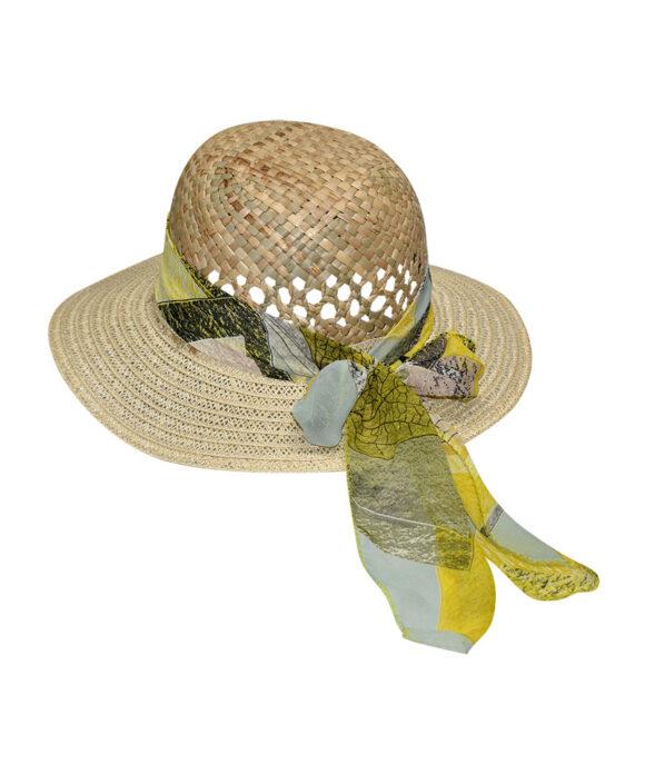 Καπέλο με διάτρητο σχέδιο και κορδέλα - STAMION