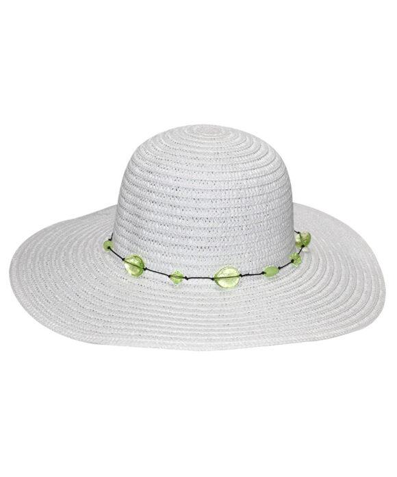 Καπέλο floppy με διάφανες πέτρες - STAMION