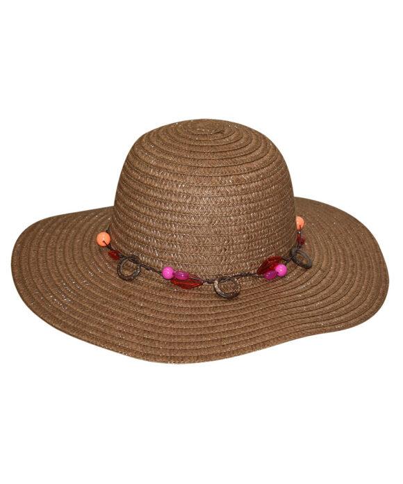 Καπέλο floppy με ξύλινους κρίκους - STAMION