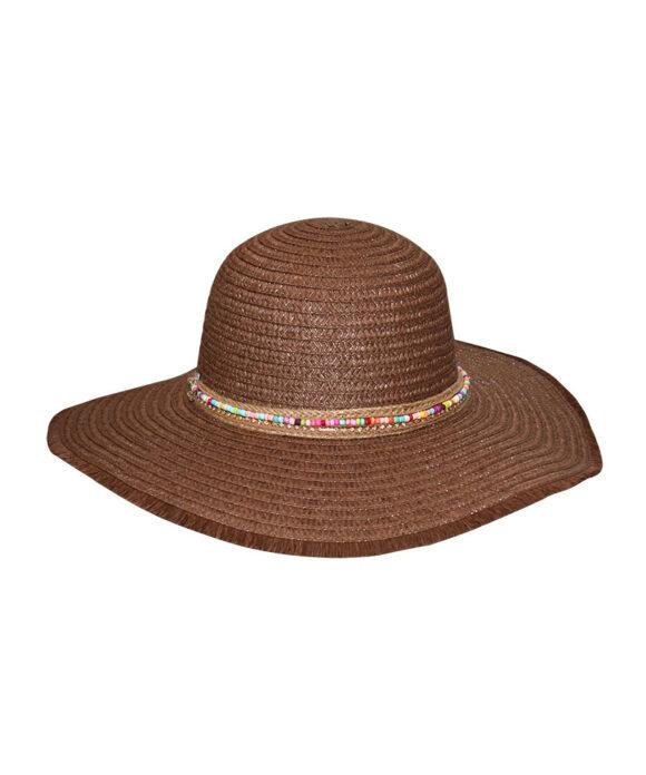 Καπέλο πλατύγυρο με χάντρες - STAMION