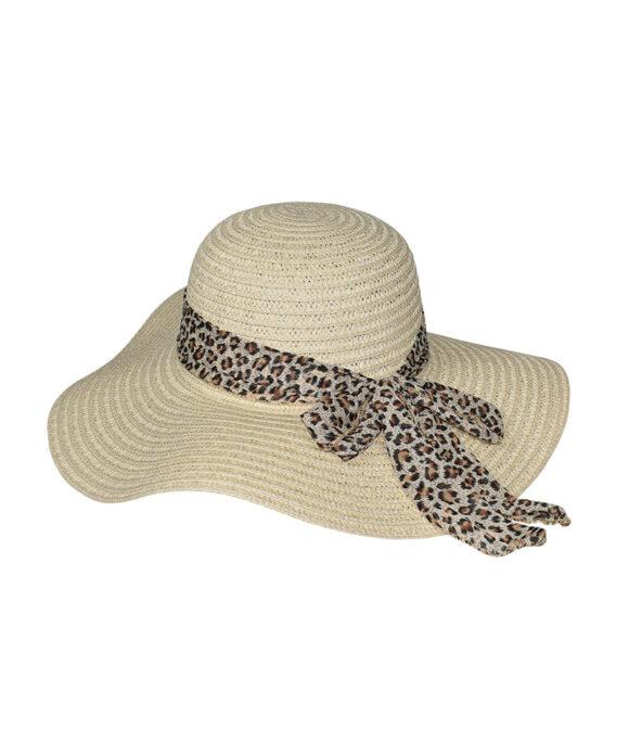 Καπέλο παραλίας με λεοπάρ κορδέλα - STAMION