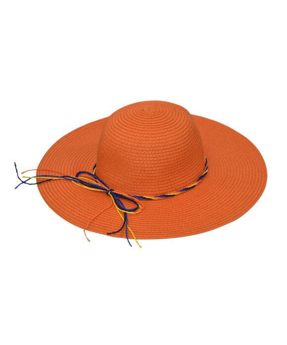 Καπέλο παραλίας floppy με πολύχρωμα κορδόνια - STAMION