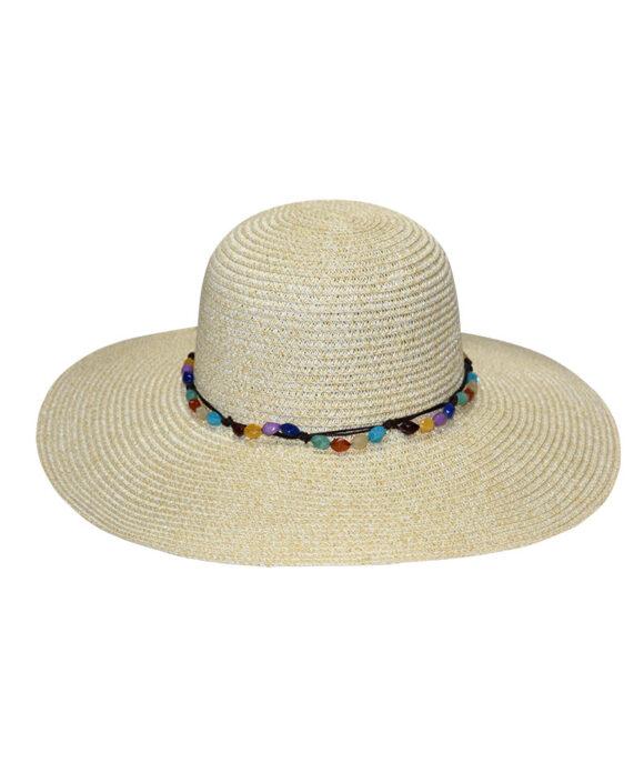 Καπέλο floppy με πολύχρωμες χάντρες - STAMION