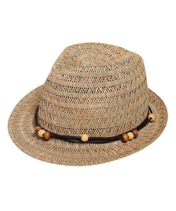 Καπέλο καβουράκι πλεκτό με χάντρες - STAMION