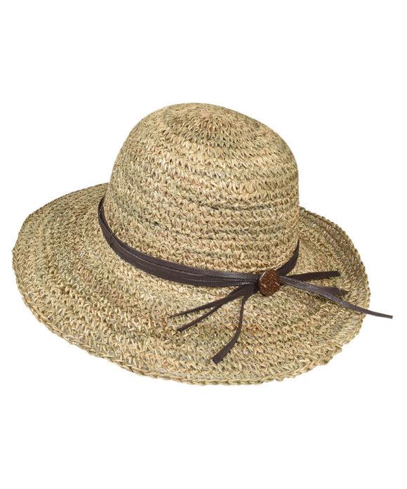 Καπέλο ψάθινο με κορδόνι - STAMION