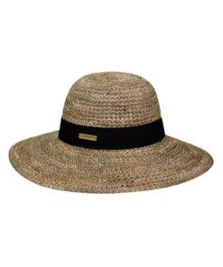 Καπέλο ψάθινο με μαύρη κορδέλα - STAMION