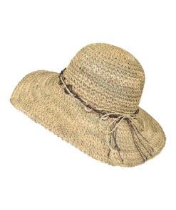 Καπέλο πλατύγυρο ψάθινο με κρίκους - STAMION