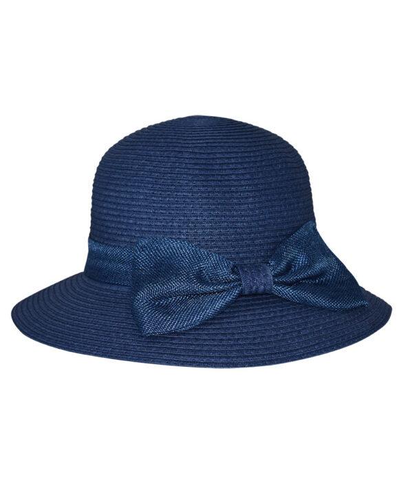 Καπέλο elegant με λινή κορδέλα και φιόγκο - STAMION