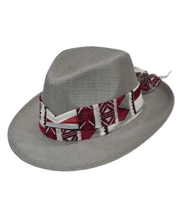 Καπέλο τύπου Παναμά με chiffon κορδέλα - STAMION