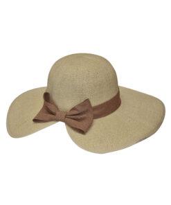 Καπέλο με λινή κορδέλα και φιόγκο - STAMION