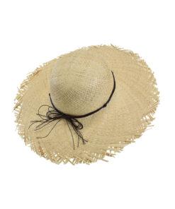 Καπέλο παραλίας με ξέφτια και κορδόνι - STAMION