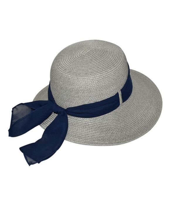 Καπέλο Elegant κοφτό με μονόχρωμη κορδέλα - STAMION
