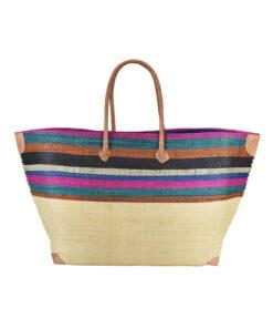 Τσάντα θαλάσσης Μαδαγασκάρης με πολύχρωμες ρίγες - STAMION