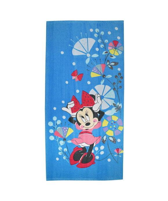 Πετσέτα θαλάσσης Disney Minnie λουλούδια - MINNIE