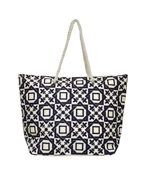 Τσάντα θαλάσσης με γεωμετρικά σχήματα - STAMION