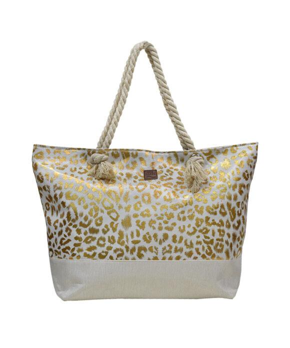 Τσάντα θαλάσσης glam animal print - STAMION