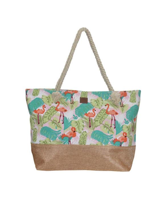 Τσάντα θαλάσσης με φλαμίνγκο - STAMION