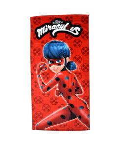 Πετσέτα θαλάσσης Miraculous Ladybug παιδική - MIRACULOUS LADYBUG