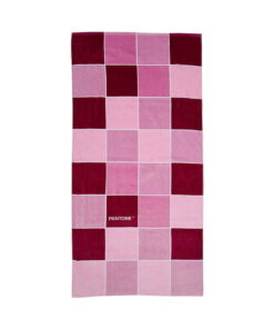 Πετσέτα θαλάσσης Pantone ροζ τετράγωνα - PANTONE