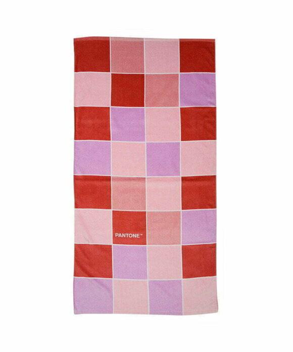 Πετσέτα θαλάσσης Pantone κόκκινα τετράγωνα - PANTONE