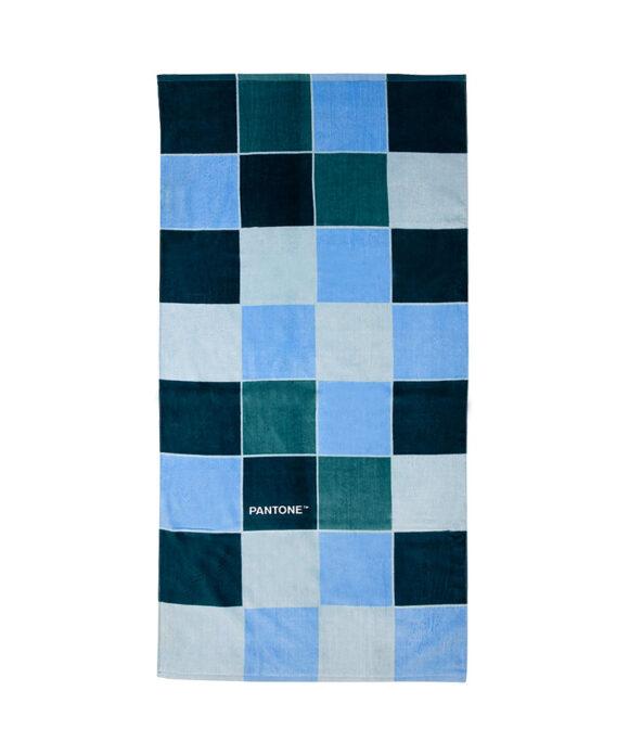 Πετσέτα θαλάσσης Pantone μπλε τετράγωνα - PANTONE