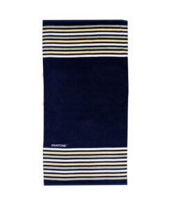 Πετσέτα θαλάσσης Pantone μαύρη με ρίγες - PANTONE