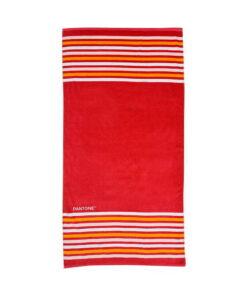 Πετσέτα θαλάσσης Pantone κόκκινη με ρίγες - PANTONE