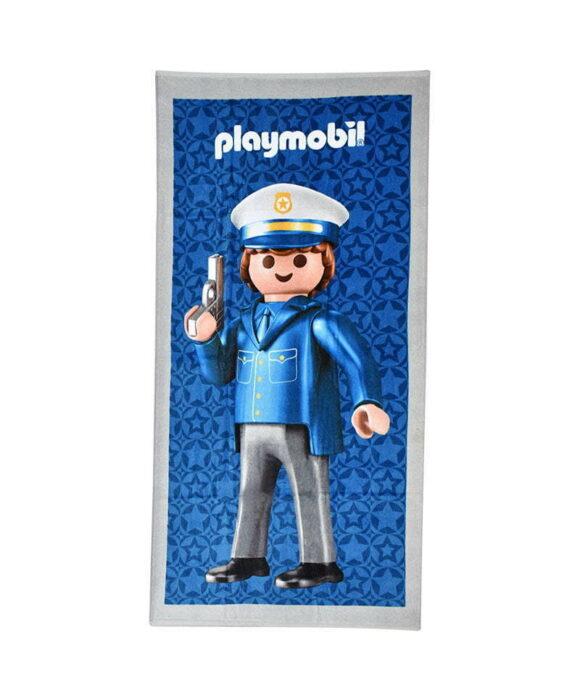 Πετσέτα θαλάσσης Playmobil αστυνόμος - PLAYMOBIL