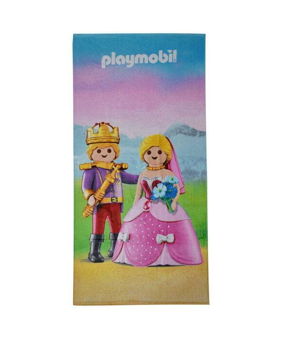 Πετσέτα θαλάσσης Playmobil βασίλιάς και βασίλισσα - PLAYMOBIL