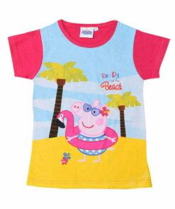 T-shirt κοντομάνικο Peppa στην παραλία φούξια - PEPPA PIG