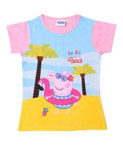 T-shirt κοντομάνικο Peppa στην παραλία ροζ - PEPPA PIG