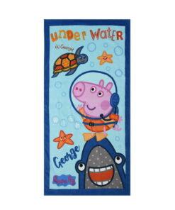 Πετσέτα θαλάσσης George δύτης - PEPPA PIG
