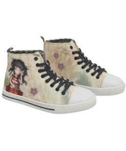 """Παιδικά πάνινα παπούτσια ψηλά με κορδόνια Santoro Gorjuss """"SUMMER DAYS"""" - SANTORO"""