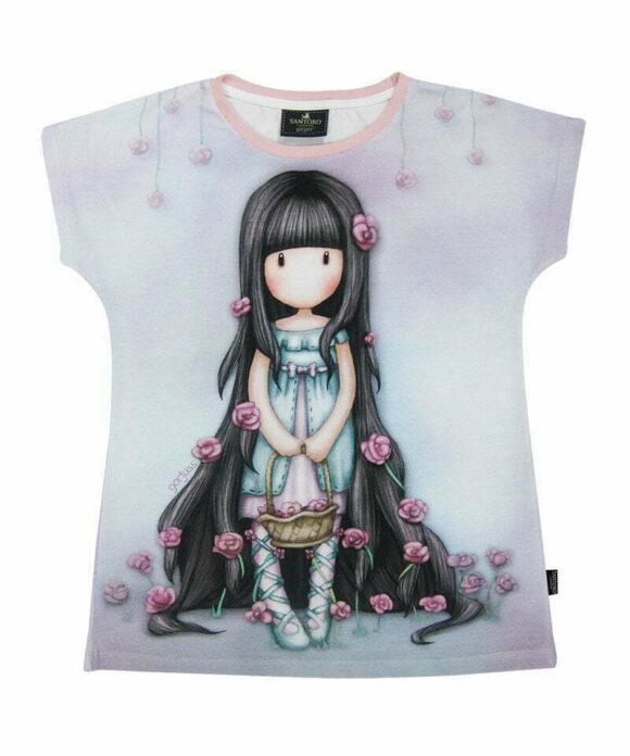 Παιδικό t-shirt κοντομάνικο Santoro Gorjuss  ROSEBUD - SANTORO