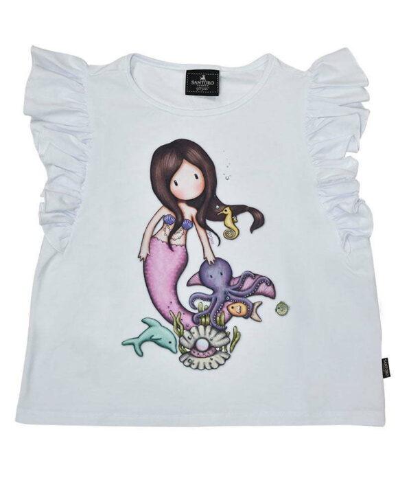 Παιδικό t-shirt αμάνικο Santoro Gorjuss  NICE TO SEA YOU - SANTORO